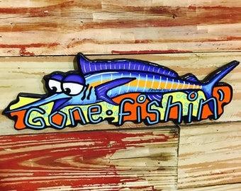"Wall Art ""Gone Fishin'"""