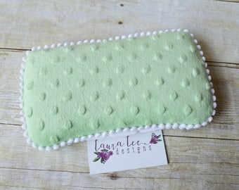 Mint Green Minky Dot Travel Baby Wipe Case, Personalized Wipecase, Diaper Wipes Case, Baby Shower Gift, Diaper Bag Wipe Clutch, Wipe Holder
