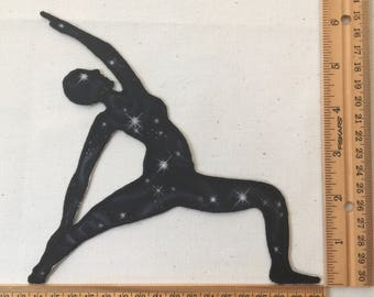 Starry fabric peaceful warrior pose patch