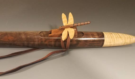 Native American Style Flute, Walnut & Maple. mid F#