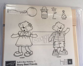 Stampin Up Build-A-Bear Beary Friends stamp