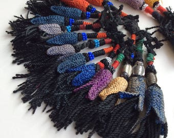 14 color tassels tribal ethnic nomad pashtun  silk road costuming
