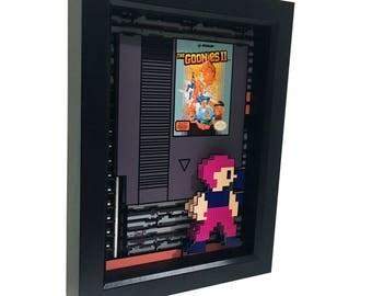 The Goonies Art Nintendo 8 Bit 3D Art Video Game Art Nintendo Art The Goonies Print Nintendo Cartridge