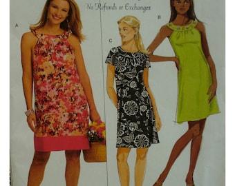 Yoked Sundress Pattern, Round Yoke, A-line Skirt, Gathered Neck, Sleeveless, Butterick No. 5179 UNCUT Size 8 10 12 14