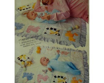 """Childs Learning Quilt and Book Pattern, 8 Appliques, Texture Use, Soft Book, Animals, Butterick No. 150 UNCUT Size: 36x36"""" 100x100cm"""