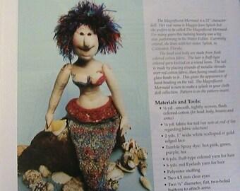 "MERMAID Maggie Jean Splash~Barb Keeling 21"" 1999 Magnificent whimsical PDF DOWNLOAD cloth art doll pattern"