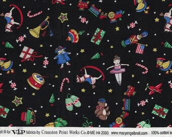 Mary Engelbreit Fabric,OOP Fabric,Circa 2000,Vintage Toys,1 Yard,New Fabric,100% Cotton,Cranston Print Works,Perfect,Debbie Dews Retro