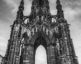 A View of Scott Monument