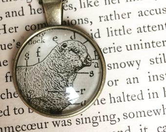SHEEP necklace - sheep pendant - farm animals - sheep keychain - sheep key ring - cute animals - vintage sheep - sheep illustration