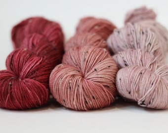hand dyed yarn, hand painted yarn, handdyed yarn, SW merino, Barnsides Trio