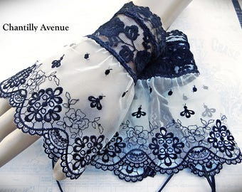 Black and White Lace Gothic Cuffs, Lace Cuffs, Victorian Cuffs, Victorian Jewelry, Lace Jewelry