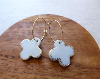 Cross Hoop Earrings Special Xmas Sale