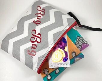Tampon Case, Tampon Holder,  Sanitary Pad Pouch, Rag Bag