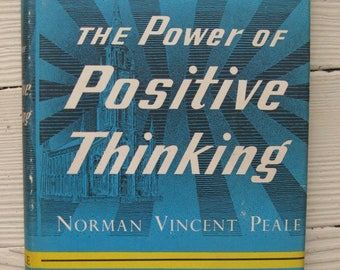 the power of positive thinking norman vincent peale 1952 book club edition hardcover