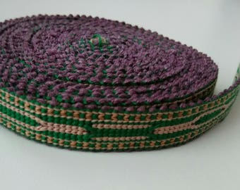 Uzbek handwoven cotton trim Jiyak. Tribal ethnic, boho, hippy trim