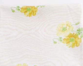 Vintage yellow pillowcase