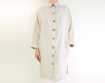 VINTAGE Linen Shirt Long Natural