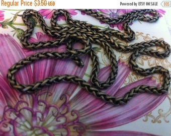 SALE Vintage Style 3mm PETITE Woven high quality chain chain sturdy Antique BRASS couture 1 foot