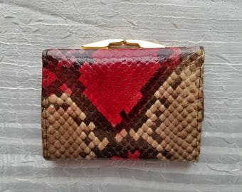 Vintage By Bosca Genuine Python Small Wallet