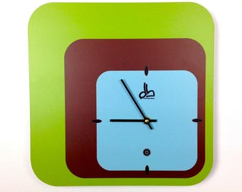 Horloge murale style vintage années 70
