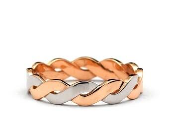 Infinity Wedding Ring - Infinity Wedding Band - Rose Gold Infinity Ring - Rose Gold Infinity Band - Womens Infinity Ring