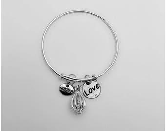 Valentine's Day. Charm Bracelet. Birthstone.