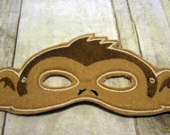 Adult Felt Monkey Mask, Monkey Mask, Adult Animal Mask, Animal Mask, Older Child Mask, Felt Mask, Pretend Play, Adult Mask