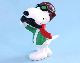 Vintage Snoopy Fun Figure 1980's PVC Flying Ace