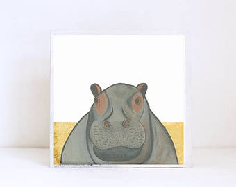 hippo, safari nursery art, jungle nursery art- baby boy,  safari nursery prints, jungle nursery decor-  playroom- zoo animals  redtilestudio