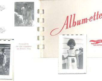Mid Century Album-ette Vintage Photographs Easter April 1952 The Fox Co. San Antonio Texas 14 Pictures Total Black and White Deckle Edge