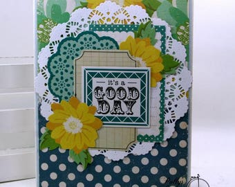 It's a Good Day All Occasion Greeting Card Polly's Paper Studio Handmade
