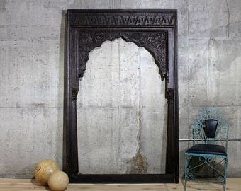 Indian Arch Antique Carved Teak Wood Archway Moroccan Style Wall Decor Carved Entryway Yoga Studio