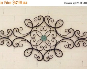 on sale scrolled wrought iron shabby chic wrought iron wall hanging - Wrought Iron Wall Designs