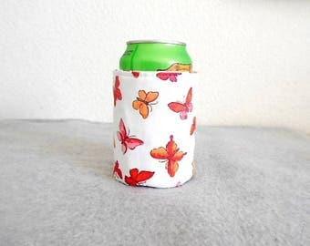 Insulated Can Cooler - Butterflies
