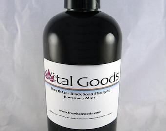 ON SALE Dreadlock shampoo Rosemary & Mint Shea Butter Black Soap Shampoo 12oz
