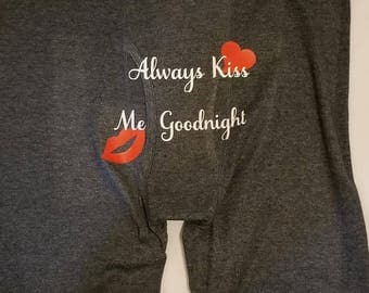 Custom Men's, Boxer Briefs always kiss me goodnight Personalized Boxers - Men's underwear -valentines boxer briefs