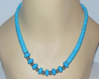 Turquoise and Sterling Silver Handcrafted Necklace