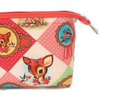 Wipeable Vintage Deer  Wireframe Bag, Large Toiletry Bag, Spillproof, Cosmetics, Wetbag