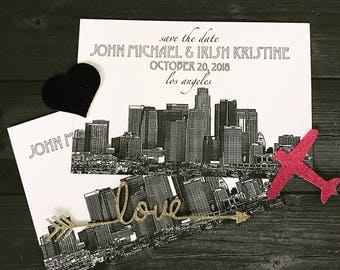 Los Angeles Wedding Invitations or Save the Date