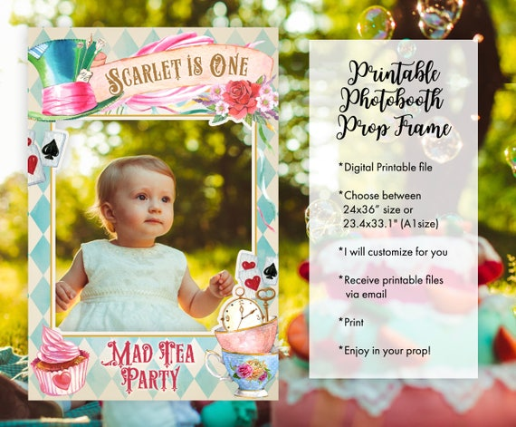20 Off Coupon On Alice In Wonderland Photo Booth Frame Props Floral