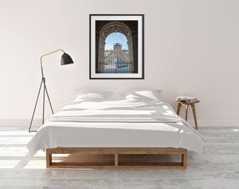 Digital download, printable art, digital art, home decor, living room, dining room, paris, louvre, architecture, pyramid