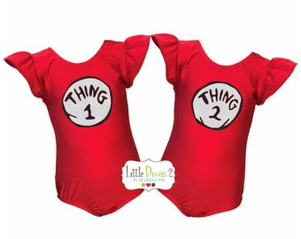 Thing Leotard (Thing 1or 2 or 3)---Your Choice