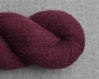 Reclaimed Cashmere Yarn, Lace Weight, Burgundy, Lot 040717