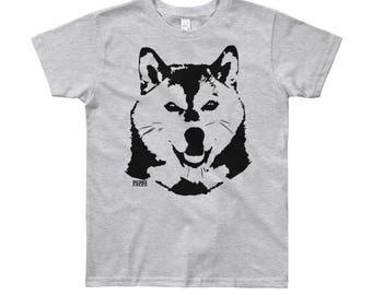 Shiba Inu Kids T-shirt, Shiba Inu Gifts, Shiba Inu Shirt, Personalized Kids Tshirt, Dog Themed Birthday Party, T Shirt With Shiba Inu Print