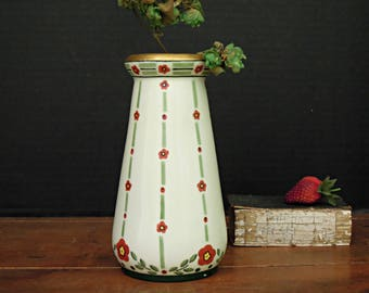 Antique Vintage Zeh Scherzer and Co. ZS and Co. Bavaria Arts and Crafts Vase / Signed Vase C.W. Smith