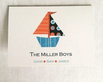 Sailboat gift cards--set of 15