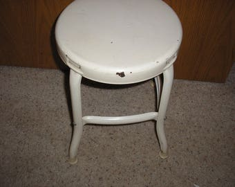 Antique;Laboratory Industrial Factory Stool