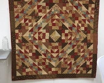 Handmade Quilt - Patchwork Quilt - Lap Quilt- C