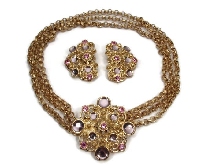 Designer Jose Barrera for Avon Vintage Necklace Earrings Set