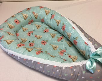 Custom babynest, baby bed, baby travel bed, baby cocoon, baby sleeping bed, Ready to ship